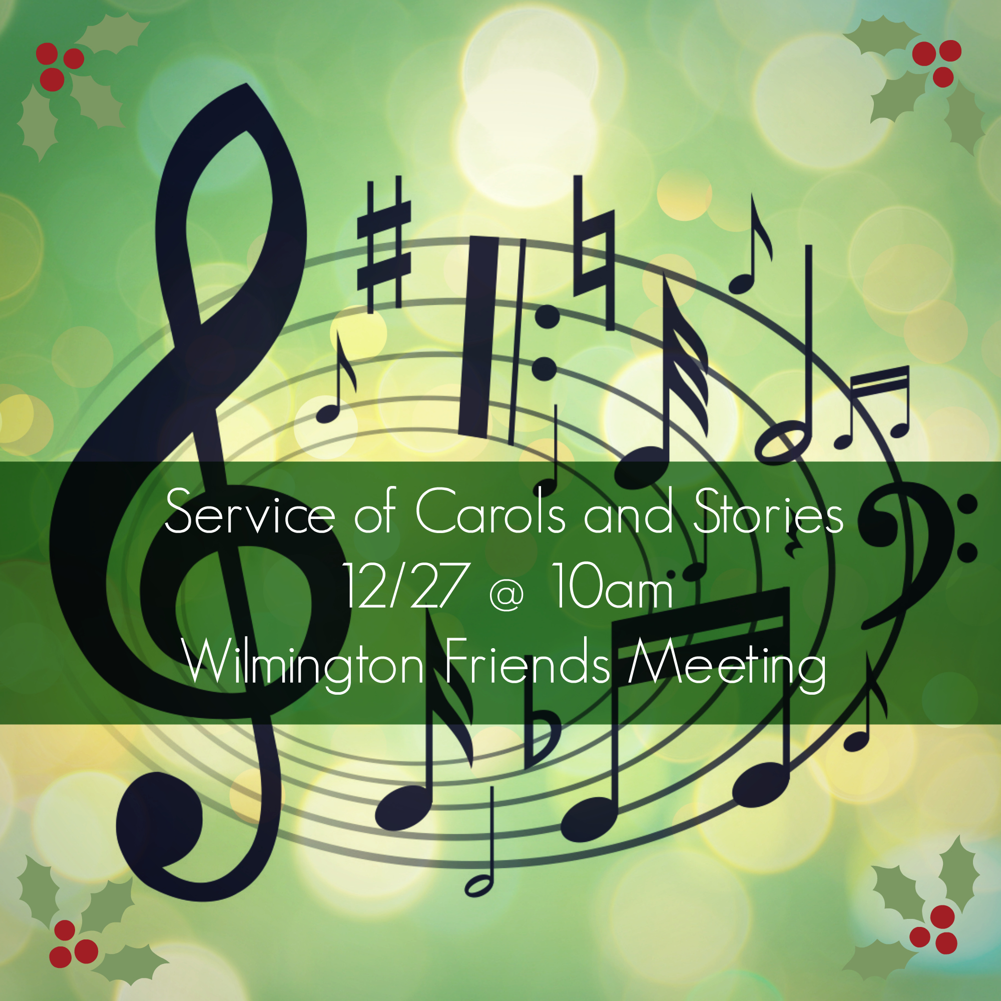 christmas caroling wilmington ohio